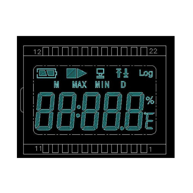 Negative VA LCD Display Black Background Lcd Screen For Electronic Equipment