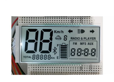 7 Segments HTN Monochrome LCD Display For Instrument With Zebra Connector