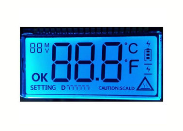 Custom TN HTN STN FTSN Reflective LCD Panel / Monochrome LCD Numeric Display Module